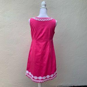 Papagallo Dresses - Pappagallo Sheath Dress Pink with white lace